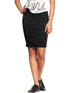 Women's Printed-Jersey Pencil Skirts | Old Navy