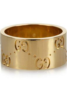 Gucci 18-karat gold icon ring