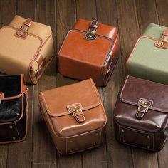 Womens DSLR Camera Bag - Nikon Camera Bag - Sony Camera Bag - Small Large Brown Leather Camera Bag
