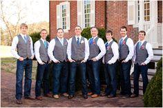 Vest & jeans wedding!