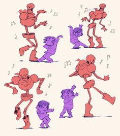 CASH 4 YOUR BONES!! (@spooktunian) | Twitter // this really reminds me of that Calvin and Hobbes where they're dancing and now I'm thinking Frisk and Papyrus as Calvin and Hobbes ^v^