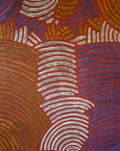Buy Australian Aboriginal art paintings from Cooee Art Gallery Sydney, Australia's oldest Aboriginal art gallery. Aboriginal paintings, sculptures, artifacts and prints. Aboriginal Painting, Aboriginal Artists, Aboriginal People, Gloria Petyarre, Dynamic Painting, Painted Leaves, Indigenous Art, Sacred Art, Abstract Canvas