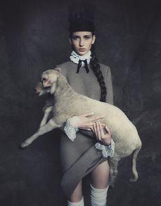 "Waleska Gorczevski in ""Devota Da Moda"" by Jacques Dequeker for Vogue Brazil, July 2014"