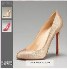 DIY Christian Louboutin glitter pumps or how to spray leather shoes gold