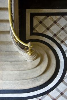 """The beautiful spilling out of steps at the base of a stairway. I like to call it """"the Delta."""""""
