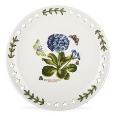 Portmeirion Botanic Garden 8.5 inch Pierced Plate Primula S/4 -Portmeirion USA