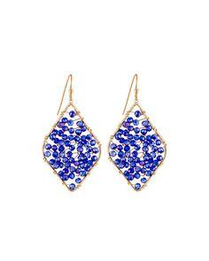 Beaded+Diamond-Silhouette+Drop+Earrings,+Navy+by+Panacea+at+Neiman+Marcus+Last+Call.