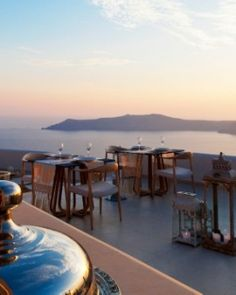 "Gold Suites Santorini - Santorini, Greece # ""A perfect spot to dine, in an ancient volcano!"" #JSVolcano"