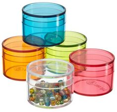 Container Store Mini Round Boxes Clear Pkg/12 on shopstyle.com