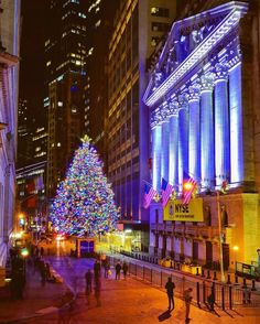 The Christmas tree at New York Stock Exchange