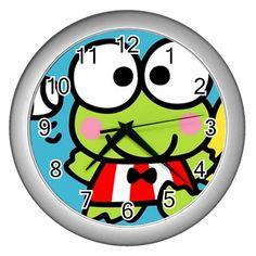 Keroppi Cute Wall Clock (Silver)