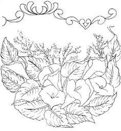 Pintura em Tecido Passo a Passo Com Fotos: Novos Lindos Riscos de Flores Para Pintura em Tecido