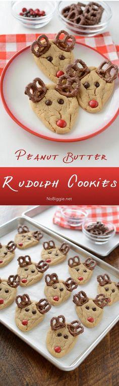 peanut butter rudolph cookies | NoBiggie.net