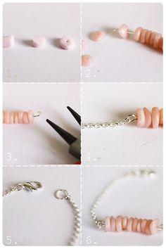 diy pierre bracelet fimo pate  polymere