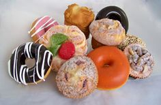 Assorted Fake Pastry Package - 10 Piece Set of Assorted Artificial Pastries