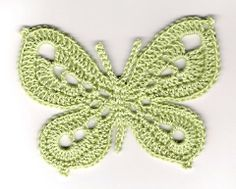 a crocheted butterfly, effective but not too complicated