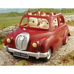 Sylvanian Families Red Saloon Car 4617  Sylvanian Families are an adorable range of distinctive animal characters with charming and beautiful homes, furniture and accessories. They live, work and play in the idyllic and wonderful land of Sylvania.The Sylv