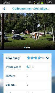 Android Campingführer für Norwegen