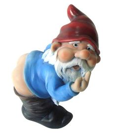 Decorative Gnome Statue Funny Garden Outdoor Lawn Ornament Figurine Decor for sale online Gnome Statues, Garden Statues, Gnome Ornaments, Garden Ornaments, Gnome Garden, Garden Art, Garden Ideas, Dream Garden, Birthday Gag Gifts
