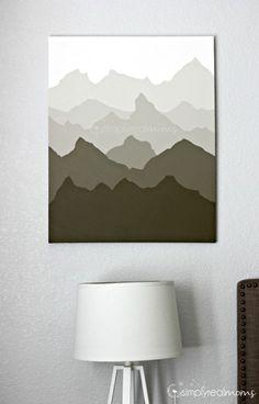 DIY Mountain Painting