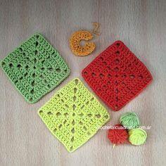 Cómo tejer éste cuadrado? Paso a paso y patrón GRATIS en el sitio web de Crochet al cuadrado!