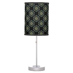Shop Chic Gold & Green Asian Style Pattern Table Lamp created by BlueRose_Design. Linen Lamp Shades, Base Trim, Incandescent Light Bulb, Japanese Patterns, Trim Color, Rice Paper, Asian Style, Pattern Fashion, Colorful Backgrounds