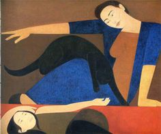 The Blue Robe - Will Barnet - WikiPaintings.org