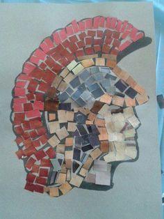 69 ideas for roman mosaic art for kids how to make Romans Ks2, Rome Activities, Mosaics For Kids, Rome Art, Greece Art, Obelix, Mosaic Art Projects, Empire Romain, Roman Soldiers