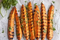 paleo cilantro and  lime grilled sweet potatoes