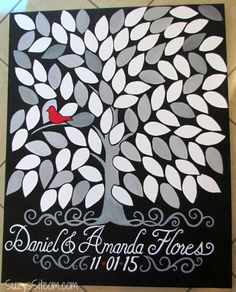 DIY Tree of Life Wedding Guest Book on Canvas