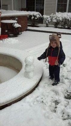 My first snowman.