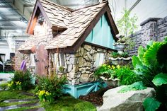 Whimsical playhouse for those who love fairytale story's.  #charmed #playhouse #storybook designed by Visbeen Architects and Charmed Playhouses.