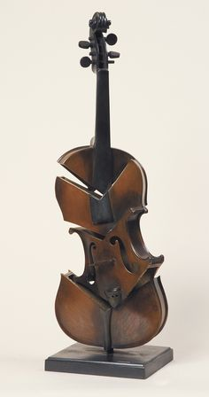 Title: 	Violin Coupé II - Hommage à Picasso  Artist: 	Arman  Medium: 	  bronze sculpture with brown and black patina