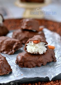 Easy Copycat Almond Joy Candy Bars | MomOnTimeout.com