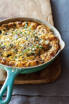 Mushroom, goats cheese and herb frittata