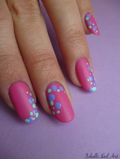Matte pink with bubbles.