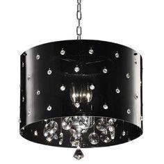 OK LIGHTING 1-Light Silver Star Crystal Ceiling Lamp-OK-5120H - The Home Depot