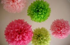 Girls project!! Want to make these for C's first birthday decor.