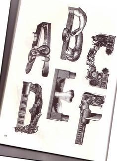From ' Bizarre & Ornamental Alphabets | Flickr - Photo Sharing!