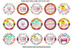 Peace Love Dance Smile Be Nice Bottle Cap by SCreekDigitalDesigns