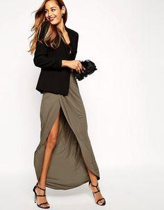 841535c657fdf Tendance jupe portefeuille ! - Cristina Cordula Mode Femmes Rondes, Mode En  Ligne, Longues