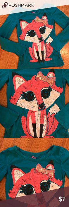 Selling this Girl's SO Pink Fox Long Sleeve Shirt Size 7/8 on Poshmark! My username is: volley4kix. #shopmycloset #poshmark #fashion #shopping #style #forsale #SO #Other