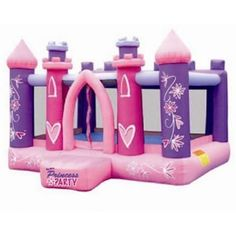 Princess Party Bounce House #bouncehouse #kidwise #inflatables