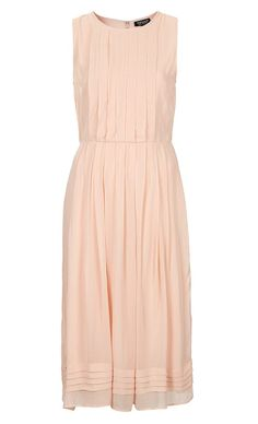 Pleated Midi Dress from TopShop. #peachbridesmaid #weddingstyle