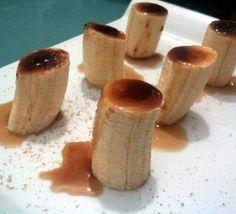 Plátano caramelizado con sirope de fruta de la pasión, una propuesta de La Cocina Divertida. ¿Qué les parece la idea?