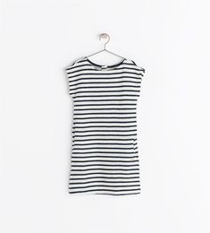 Image 2 of STRIPED SHIRT WITH ANCHOR APPLIQUÉ from Zara