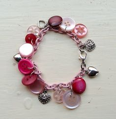 Button bracelet idea