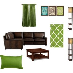 Something Like This For A Green And Brown Living Room. Teal/turquoise  Accents. Part 51