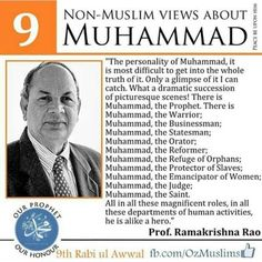 Views of a non-muslim about the Prophet Muhammad ( pbuh )