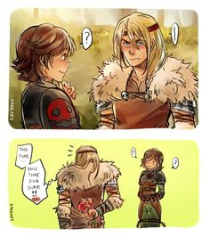 Astrid x Hiccup genderbent. I find this highly amusing. Even if I think that gender bending is strange on them. lol XD